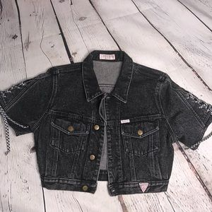 Vintage guess short sleeve denim jacket